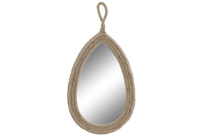 Wanddecoratie - Spiegels - Mirror rope 34x3x64 natural brown