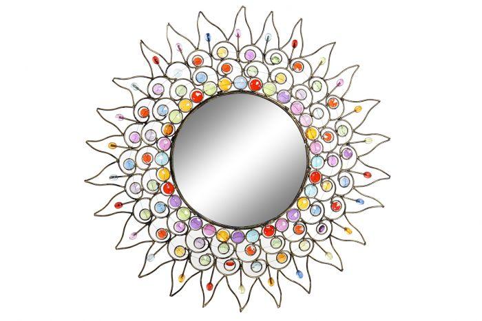 Wanddecoratie - Spiegels - Mirror metal acrylic 50x2x50 golden