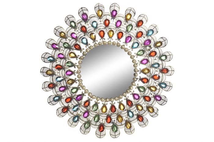 Wanddecoratie - Spiegels - Mirror metal acrylic 53x2x53 golden