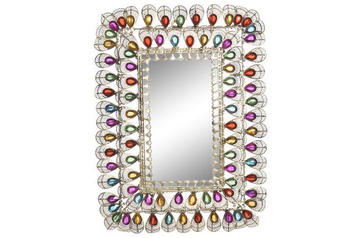 Wanddecoratie - Spiegels - Mirror metal acrylic 45x2x62 golden