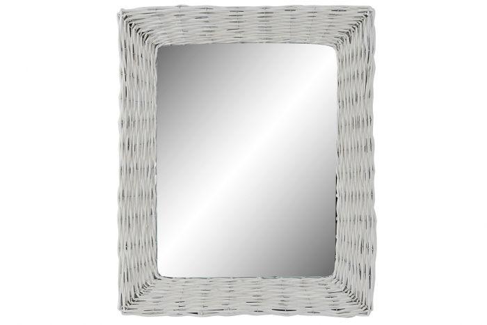 Wanddecoratie - Spiegels - Mirror wicker glass 52,5x4x63 braided white