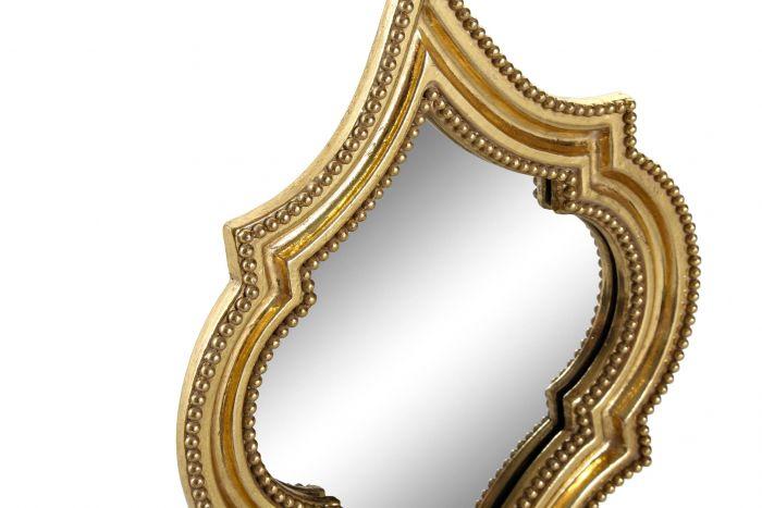 Wanddecoratie - Spiegels - Mirror set 4 resin glass 20x2,2x28 golden