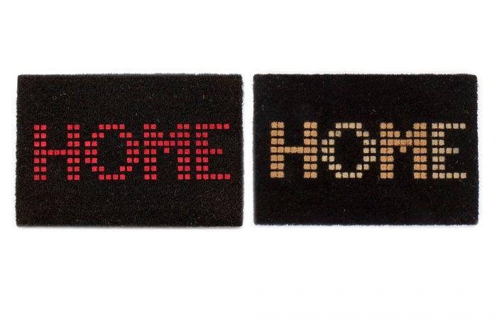 Woonaccessoires - Deurmatten - Doormat coco fiber rubber 60x40x2 home 2 mod.