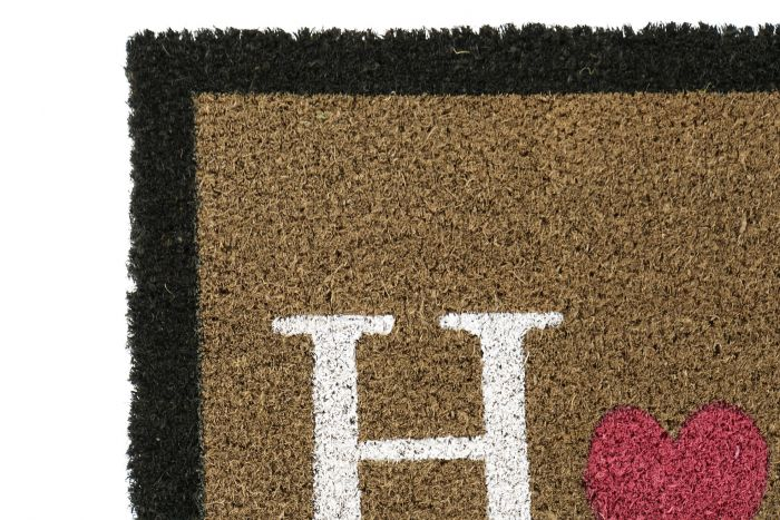 Woonaccessoires - Deurmatten - Doormat coco fiber pvc 60x40x1,5 home 2 mod.