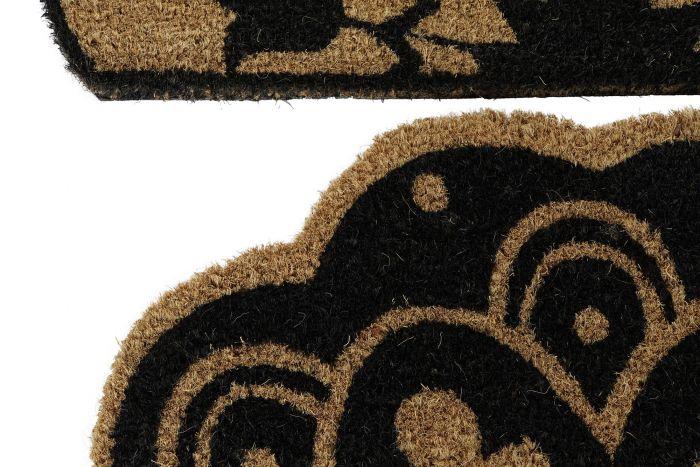 Woonaccessoires - Deurmatten - Doormat coco fiber pvc 60x40x1,5 flower 2 mod.