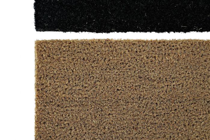 Woonaccessoires - Deurmatten - Doormat coconut pvc 60x40x1,5 heart natural 2 mod.