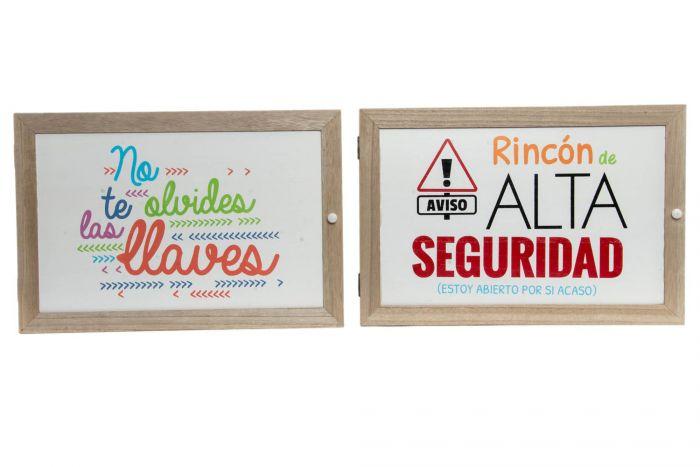 Blanco TIENDA EURASIA/® Tapa Contadores con Cuelgallaves Ganchos para Llaves Almacenaje 46X32X8 CM