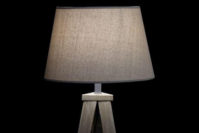 Lampada Al Suolo Pino 40x40x154 Tripode 2 Mod