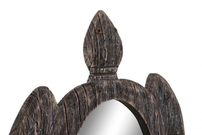 Wanddecoratie - Spiegels - Mirror paulownia mirror 40x3x46 tortoise natural