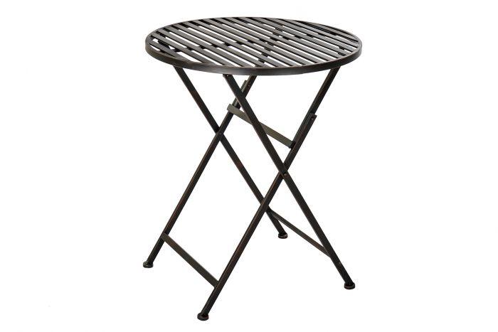 Tafel - Tuintafels - Table metal 60x60x73 folding black