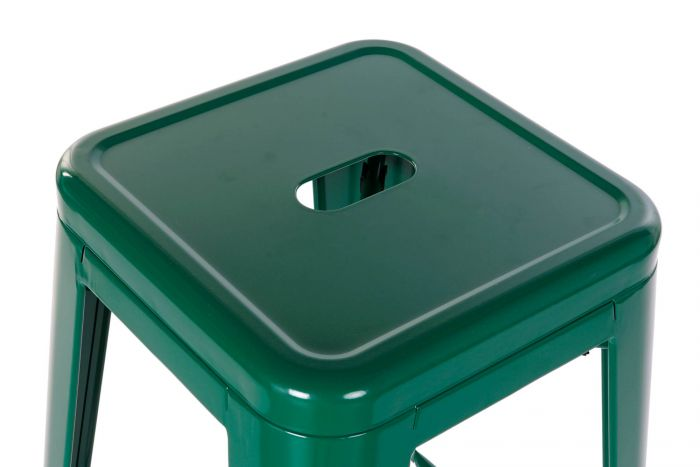 Stoel - Barkrukken - Stool metal 43x43x76 green