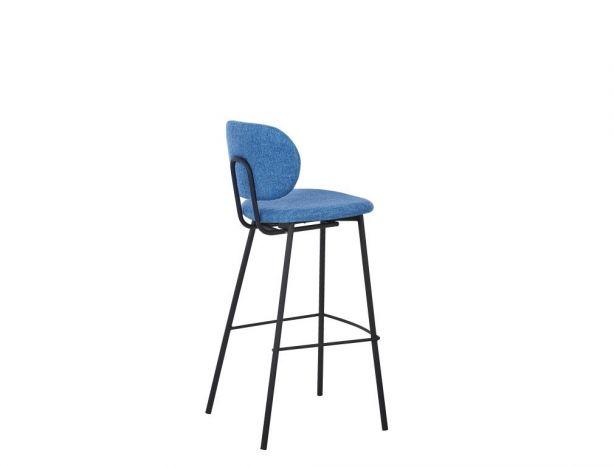 Stoel - Barkrukken - Stool polyester metal 50x46x101 75 blue