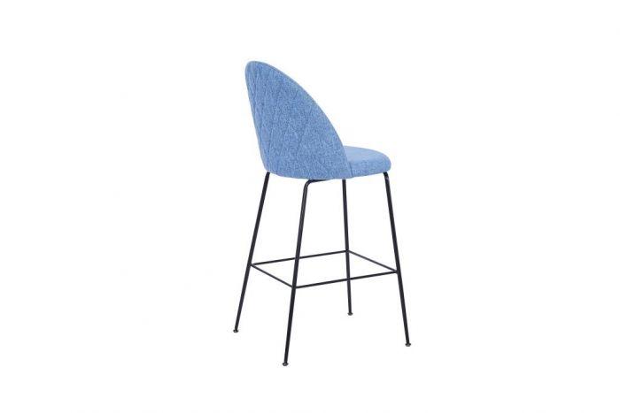 Stoel - Barkrukken - Stool polyester metal 55x50x110 75 blue