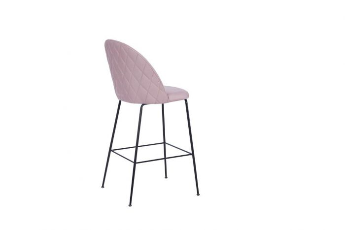 Stoel - Barkrukken - Stool polyester metal 55x50x110 75 pink