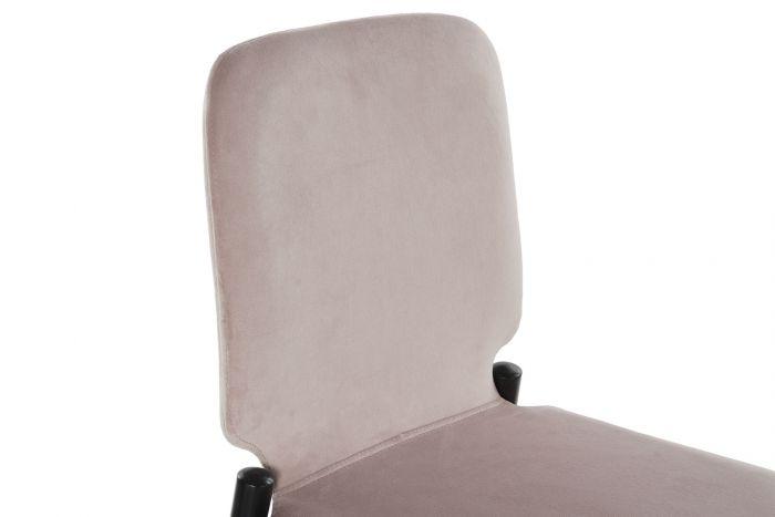 Stoel - Barkrukken - Stool velvet metal 43,5x52x109 velvet pink