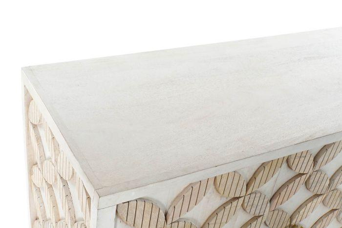 Kast - Dressoir - Buffet mango brass 155x43x84 cross white