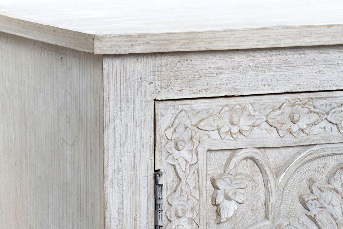 Kast - Dressoir - Tv cabinet mango wood 151x40x60 aged white