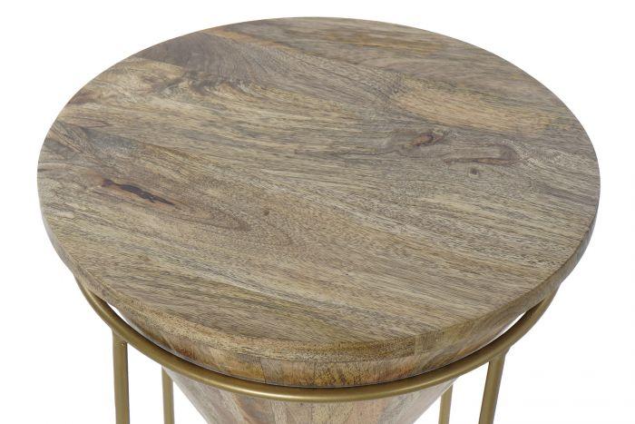 Tafel - Salontafels - Auxiliary table mango metal 40x40x45