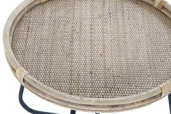 Tafel - Salontafels - Auxiliary table rattan metal 58x58x47 natural