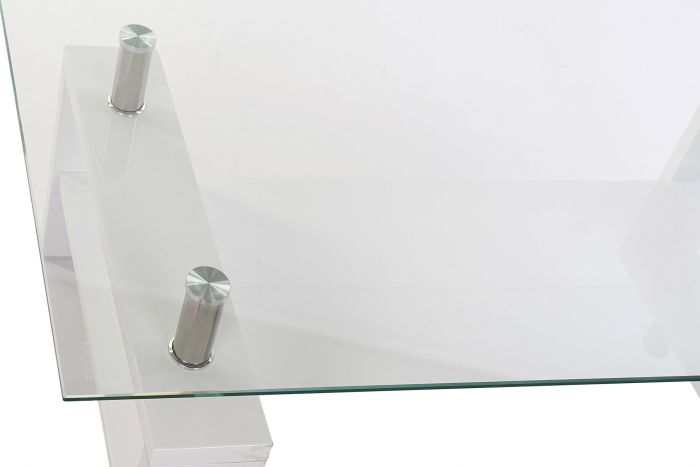 Tafel - Salontafels - Coffee table wood glass 120x60x42 8mm lacquered