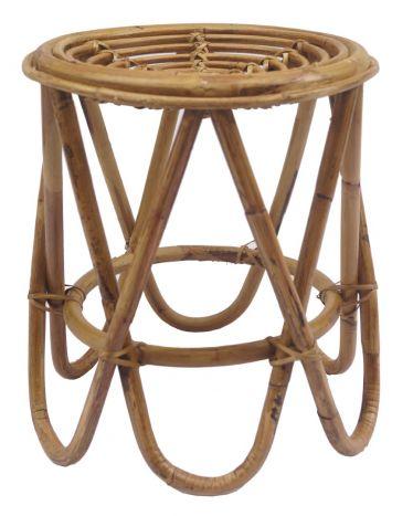 Tafel - Salontafels - Auxiliary table rattan 37x37x41 natural brown
