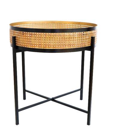 Tafel - Salontafels - Auxiliary table metal 55x55x60 black