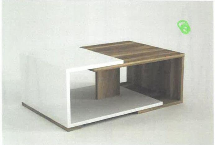 Tafel - Salontafels - Coffee table mdf 110x60x45 white