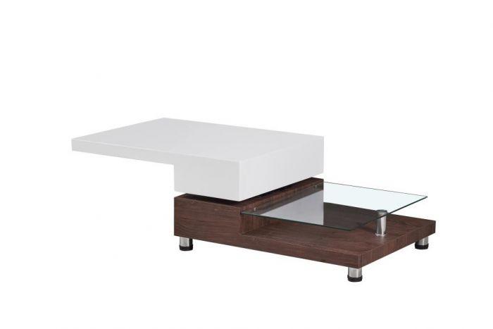 Tafel - Salontafels - Coffee table mdf glass 80x60x38
