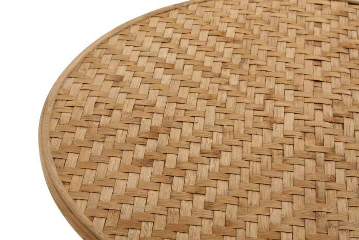 Tafel - Salontafels - Auxiliary table rattan 62x62x72 natural brown