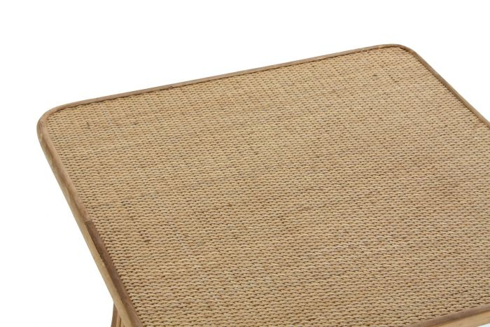 Tafel - Salontafels - Auxiliary table rattan 56x56x50 natural brown