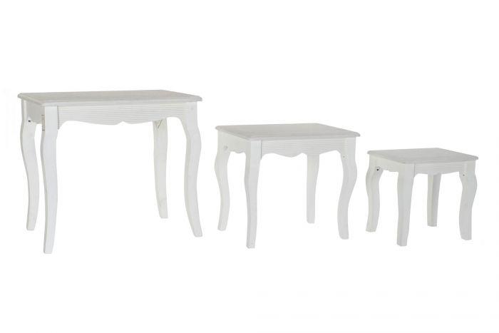 Tafel - Salontafels - Auxiliary table set 3 mdf 53x35x47 white