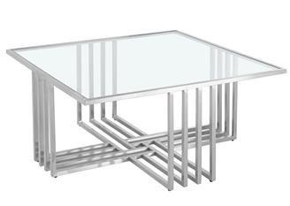 Tafel - Salontafels - Coffee table inox glass 120x60x45 silver