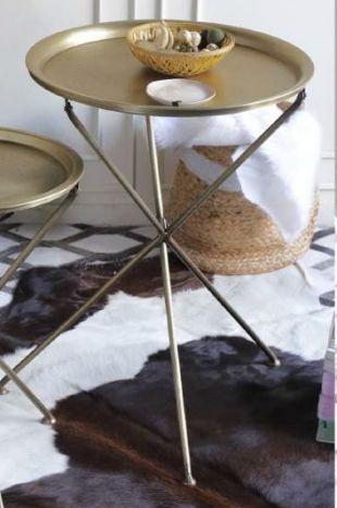 Tafel - Salontafels - Auxiliary table brass 48x48x65 golden