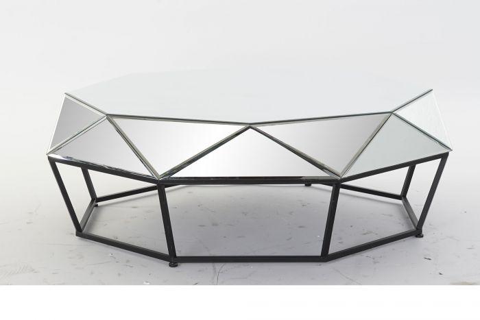 Tafel - Salontafels - Coffee table metal mirror 100x100x35