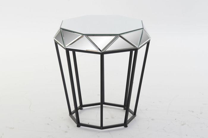 Tafel - Salontafels - Auxiliary table metal mirror 50x50x55