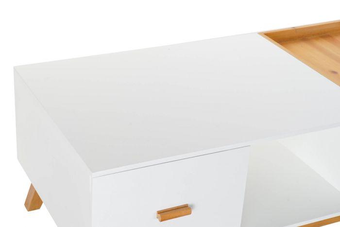 Tafel - Salontafels - Coffee table mdf 120x60x45 white