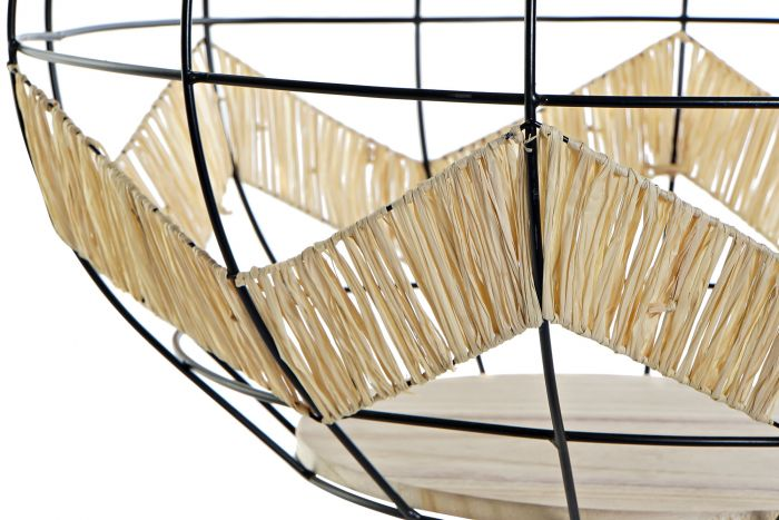 Tafel - Salontafels - Coffee table metal wood 53x53x35,5 natural
