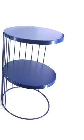 Tafel - Salontafels - Auxiliary table metal 34x34x50 navy blue