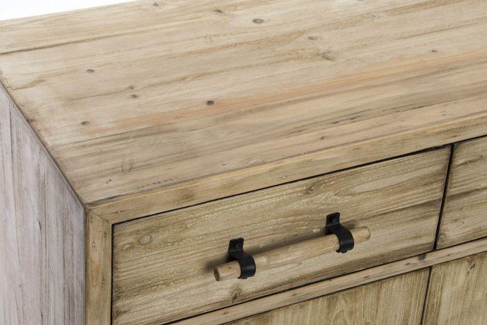 Kast - Dressoir - Buffet wood 80x38x74 2 doors natural brown