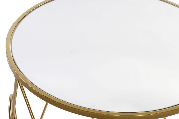Tafel - Salontafels - Auxiliary table set 2 metal mirror 50x50x51 golden