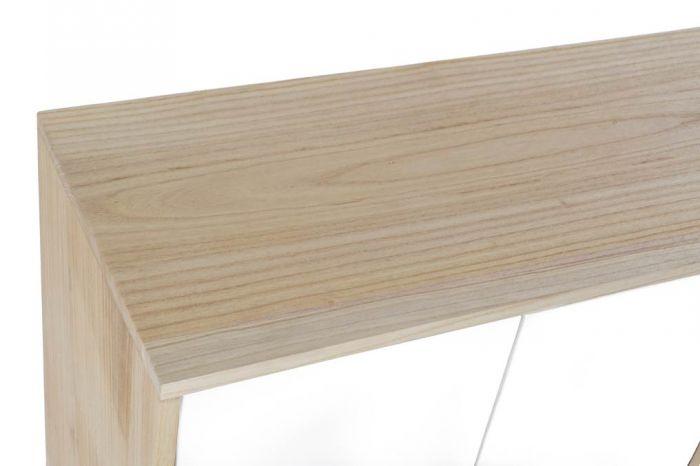 Kast - Dressoir - Buffet paulownia mdf 100x35x65,50 4 caj white