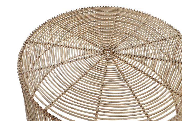 Tafel - Salontafels - Coffee table rattan 56x56x26 natural