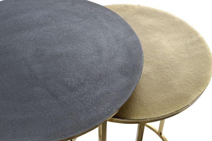 Tafel - Salontafels - Auxiliary table set 2 metal aluminium 46x46x60