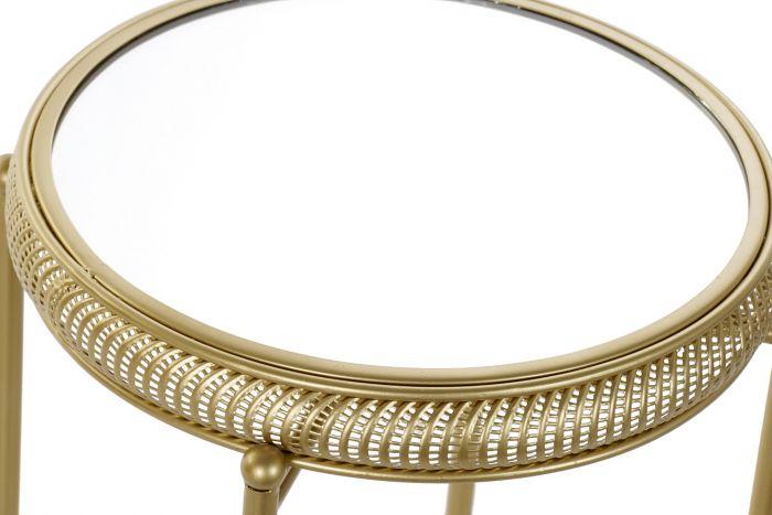 Tafel - Salontafels - Auxiliary table set 2 metal mirror 42x42x65,5 4,7