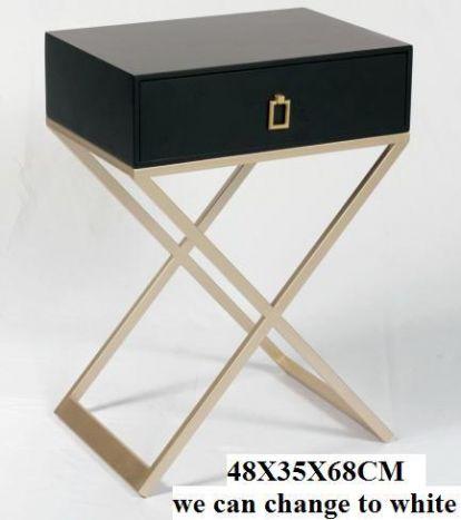 Tafel - Salontafels - Auxiliary table mdf metal 48x35x68 black