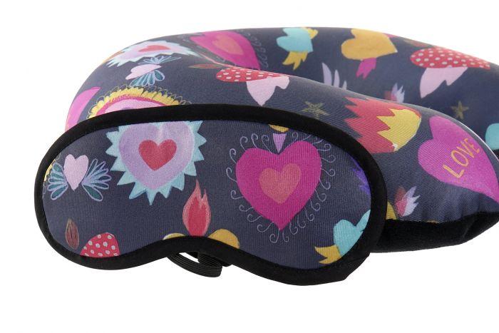 Textiel - Kussens - Travel cushion set 2 polyester 30x30x10 hearts