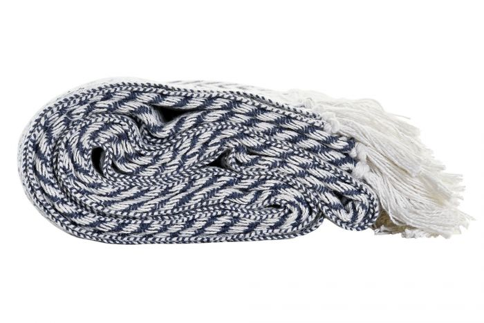 Textiel - Karpetten - Plaid cotton 130x170x0,5 zig zag 2 mod.