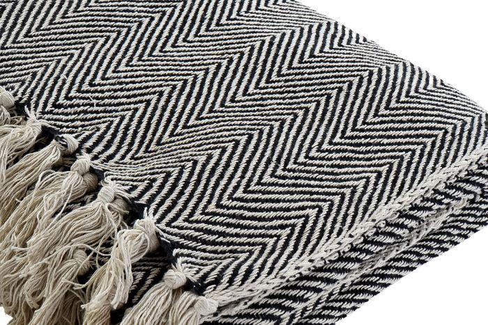 Textiel - Karpetten - Plaid cotton 130x170x1 375 gsm. flecos 2 mod.