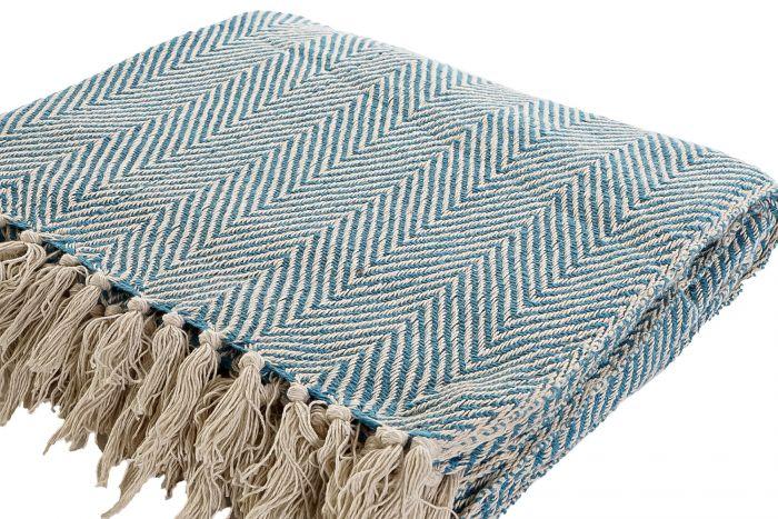 Textiel - Karpetten - Plaid cotton 150x200x1 375 gsm. flecos 2 mod.