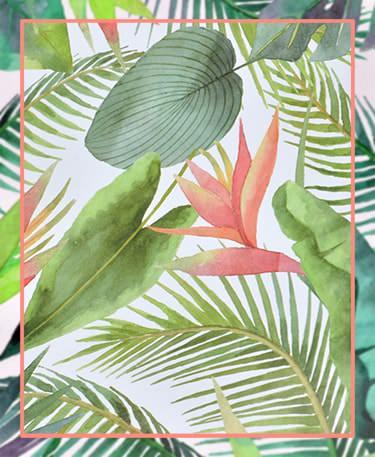 Hojas tropicales decoración